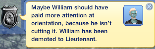 William Demoted